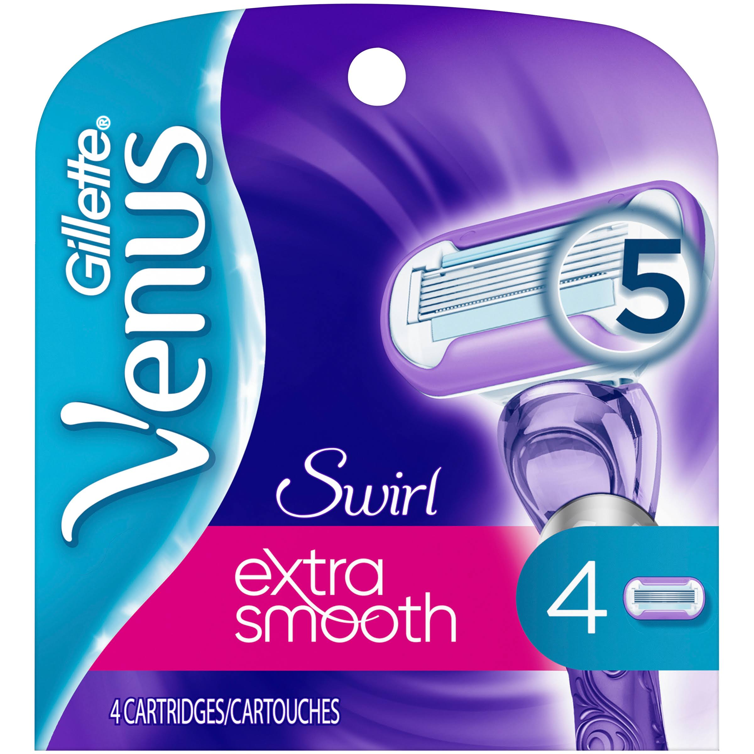 Gillette Venus Swirl Cartridges - 4 Pack