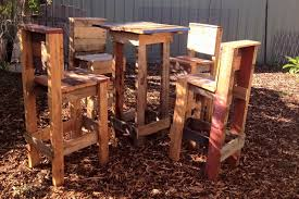 pallet wood table and 4 chairs set 101 pallets