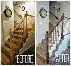 Staining Stair Banister - Neaucomic.com Java Gel Stain Banister Diy Projects Pinterest Gel Remodelaholic Stair Makeover Using How To A Angies List My Humongous Stairs Fail Kiss My Make Wood Stairs Treads For Cheap Simply Swider Stair Railing Cobalts House Staircase Reveal Cut The Craft Updating A Painted With An Ugly Oak Dark All Things Thrifty 30 Staing Filling Holes And