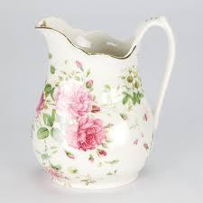 Ebay Uk China Cabinets by New Vintage Style Porcelain Water Jug Pitcher Flower Rose Shabby
