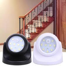 9 led motion sensor light 360 degree wall l rotation