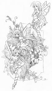 Detailed Drawing Fairy Coloring Pages