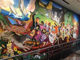 Denver International Airport Murals Pictures by What U0027s Up With The Creepy Apocalyptic Paintings In Denver