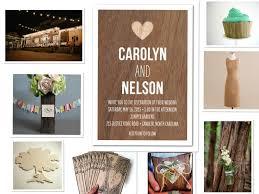 Wood Wedding Theme Invitation