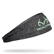 Realtree Floor Mats Mint by Realtree Static Gray With Mint Logo Headband Realtree Camouflage