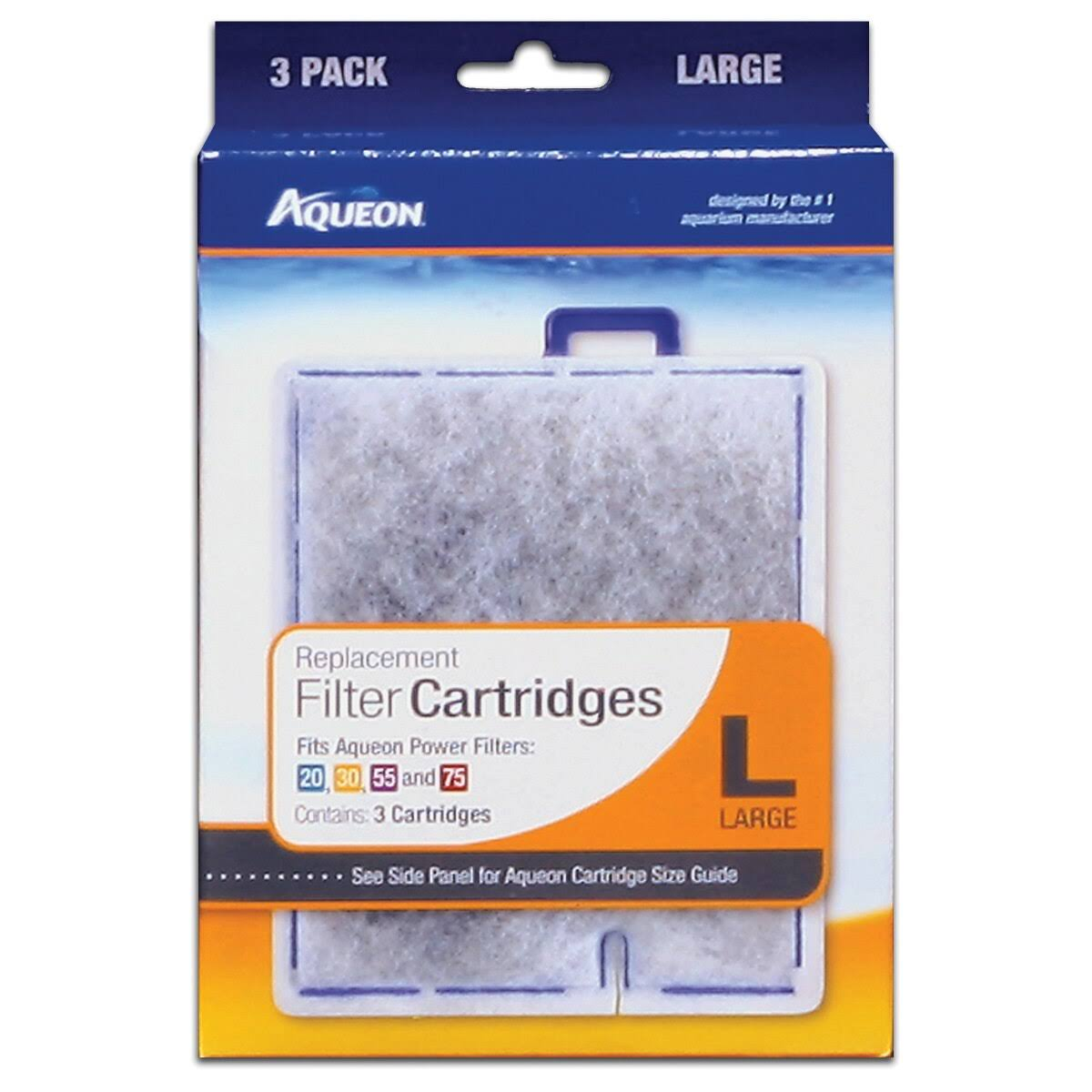 Aqueon Quiet Flow Replacement Filter Cartridges - Large, 3 Pack