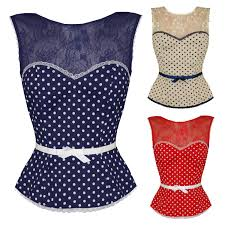 friday on my mind new womens deanna lace polka dot retro 50s