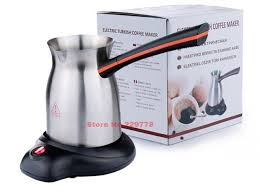Electric Stainless Steel Ibrik Turkish Coffee Pot Handmade Maker Gooseneck Spout Kettle Reserve Price