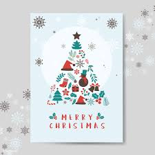 Christmas Greeting Card Mockup Vector Free Stock Vector 494237