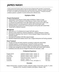Hospice Social Worker Resume