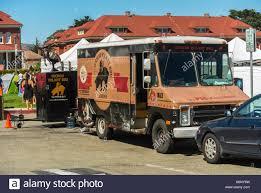San Francisco, CA, USA, Street Food, Parked Trucks,