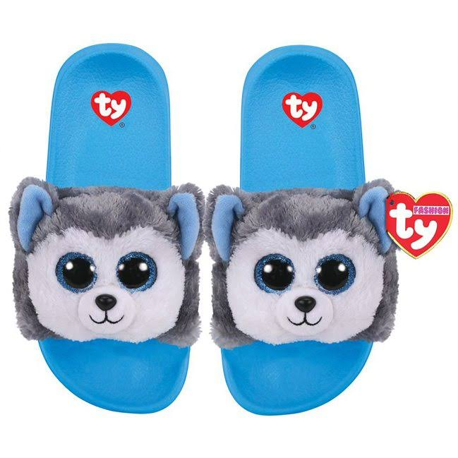 Ty Beanie Babies 95602 Fashion Slush Husky Sequin Pool Sliders Small UK Size 11