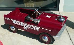 1961 Murray Fire Chief Pedal Car | History Repeats Itself ... Goki Vintage Fire Engine Ride On Pedal Truck Rrp 224 In Classic Metal Car Toy By Great Gizmos Sale Old Vintage 1955 Original Murray Jet Flow Fire Dept Truck Pedal Car Restoration C N Reproductions Inc Not Just For Kids Cars Could Fetch Thousands At Barrett Model T 1914 Firetruck Icm 24004 A Late 20th Century Buddy L Childs Hook And Ladder No9 Collectors Weekly Instep Red Walmartcom Stuff Buffyscarscom Page 2