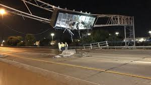 100 Dump Trucks Videos PHOTOS Truck Crashes Into Electronic Sign On I70