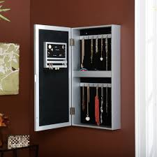 Best Hanging Jewelry Armoire | HomesFeed Decor Antique Carving Natural Wooden Jewelry Armoire Walmart In Bedroom Best Mirror For Your Organizer Jcpenney Armoire Abolishrmcom Oak Mirror Jewelry Amazoncom Choice Products Black Mirrored Cabinet Cabinet The 45 Wall Mounted Lighted Hammacher Schlemmer White Wood Stained Design Ideas All Home And Top 5 Armoires Youtube