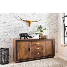 wohnzimmer sideboard aus sheesham massivholz kunstleder