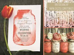 Rustic Mason Jar Wedding Invitations Watercolor