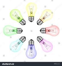 creative new ideas circle colored lightbulbs stock photo 70930858
