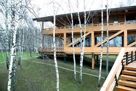 maison bois lamelle colle maison pont en banlieue de moscou maisons en bois