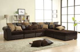 homelegance lamont modular sectional sofa set b chocolate