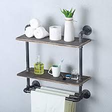 industrielle retro wandhalterung rohr badregal bad handtuch handtuchhalter altholz handtuchhalter schwebende regale badezimmer dekoration