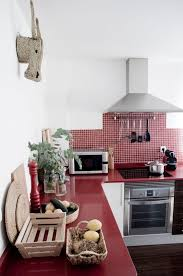Medium Size Of Red Kitchen Cabinets And Grey Yellow White Decor