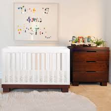 modern babyletto 2 piece nursery set modo 3 in 1 two tone crib