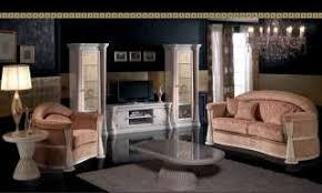 luxus schlafzimmer bettgruppe bett versace muster gold dekor