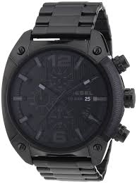 100 Truck Mechanic Salary Mens Diesel Analog Black Dial Watch Overflow Chronograph Dz4223