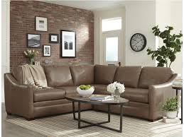 100 2 Sofa Living Room L9 Custom Design Options Customizable Piece Leather Sectional With Track Arms By Hickorycraft At Howell Furniture
