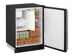 24quot 1000 Series U Line COMBO Ice Maker Refrigerator Stainless Steel Reversible