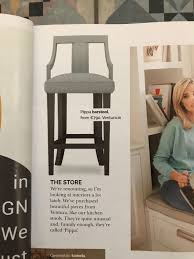 100 O At Home Magazine Ventura Design The Pippa Barstool Featured In House And