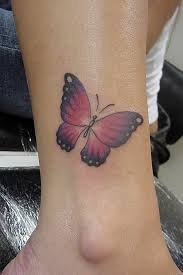 Butterfly Tattoo On Inside Ankle
