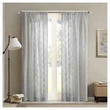 Target Gray Sheer Curtains by Grey Ombre Curtains Target