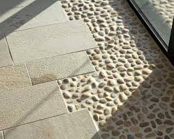 Stone Is Water Resistant Its Textured And It Wont Make Your Floor Slippery Then Why Not Trying Another Materials Similar To Tile Like Pebbles