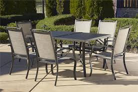 Patio Chair Replacement Slings Amazon by Amazon Com Cosco Outdoor 7 Piece Serene Ridge Aluminum Patio