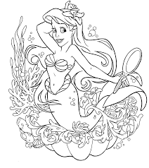 Remarkable Princess Ariel Coloring Pages With Page And Online