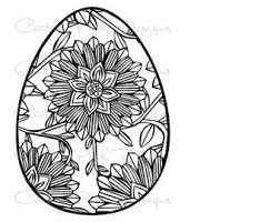 Egg Easter With Flower 001 SVG JPEG PNG Pdf Use Silhouette