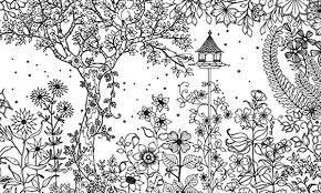 Amazing Secret Garden Coloring Pages
