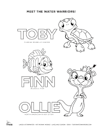Tobys Water Warriors Coloring Page 6
