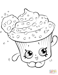 Creamy Cookie Cupcake Shopkin View All Coloring Pages From Shopkins Category