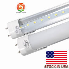 stock in los angeles new jersey 4ft t8 led light bright