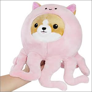 Squishable / UnderCover Corgi in Octopus - 7""