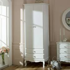 details zu ornate white single wardrobe vintage chic bedroom furniture home storage
