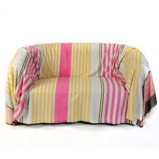 jetés de canapé jeté de canapé rectangulaire 2x3m fond gris et rayures fushia
