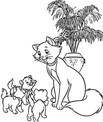 The Aristocats Duchess Gather Her Childrens Coloring Pages