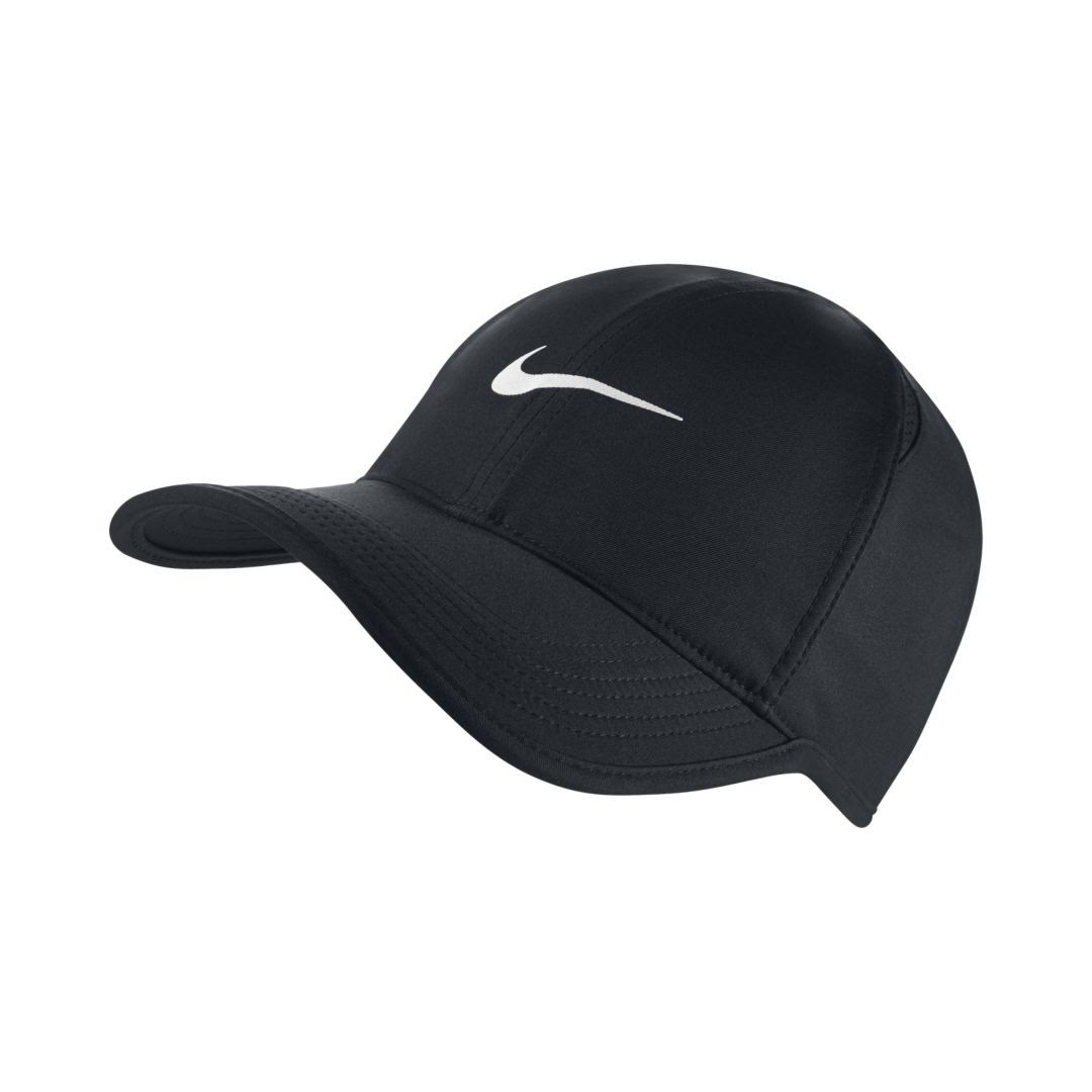 Nike Featherlight Tennis Hat - Black and White, One Size