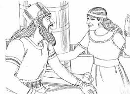 King Ahab And Jezebel Coloring Pages