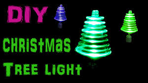 Spiral Lighted Christmas Tree Green Lights by Make Rotating Christmas Tree Light Using Led U0027s And Toy Motor Youtube