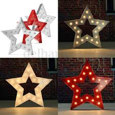 15 Metal LED Marquee Letter Symbol Light Star Type Carnival Circus